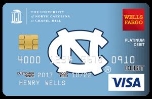 Sample Wells Fargo UNC Debit Card